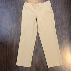 Talbots petite heritage straight fitted pants 12 P